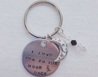 I Love You To The Moon And Back Keychain/ Necklace
