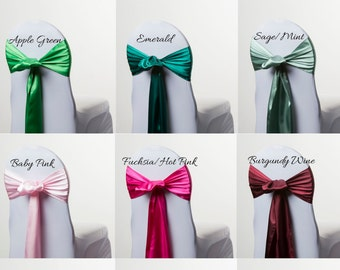Satin Chair Sash - Samples