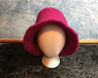 Pink felted Women's Hat