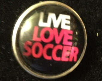 Love Soccer and Soccer Girl Snaps - This snap fits all 18mm - 20mm jewelry