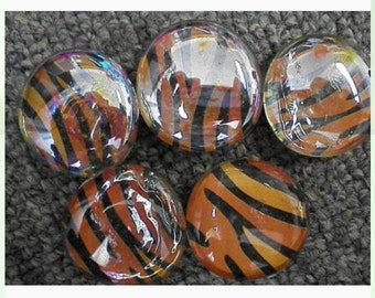 Tiger print glass magnets