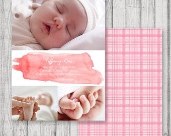 Triple Photo Baby Announcement