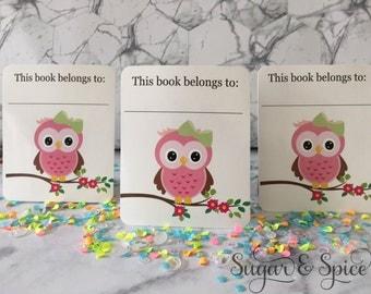 CUTE OWL BOOKPLATES