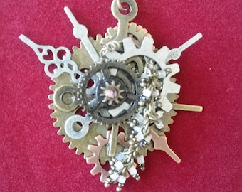 Gear and Bead Pendant
