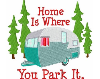 Camper, RV - Machine Embroidery Design