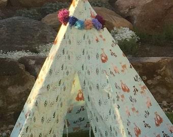 Play teepee, tent, wigwam, teepee, woodland teepee