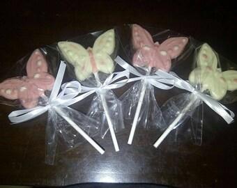 Butterfly chocolate lollipop