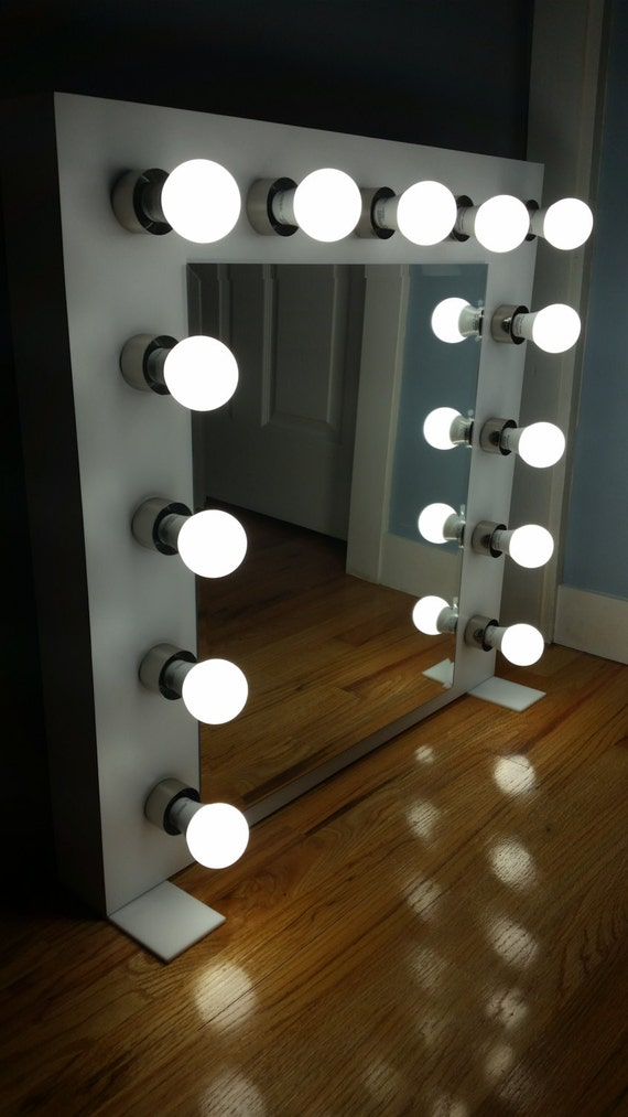 Custom built Vanity Mirror with lights by VanityDesignByWalter