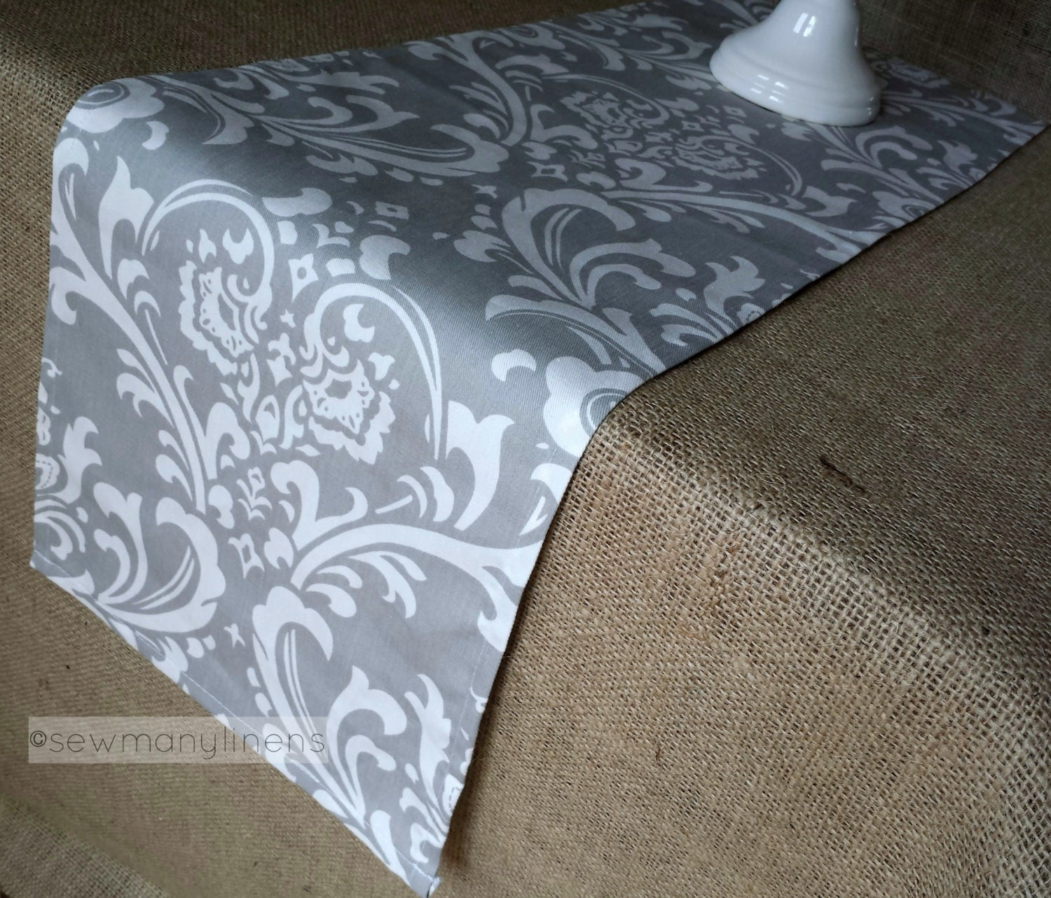 Dining Room Table Runner: Gray Table Runner Grey Floral Dining Room Kitchen Decor Table
