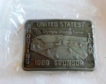 1989 United States Shooting Tea Olympic Shooting Belt Buckle