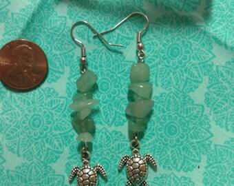 Crystal Seaturtle Earrings