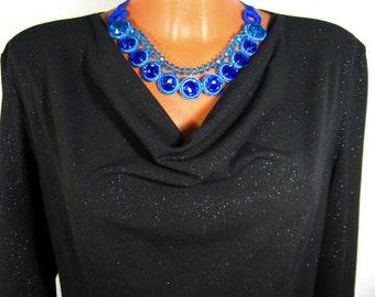 """Колье «Синяя лагуна» - Украшение на шею Necklace """"Blue Lagoon"""" - on the neck Decoration"""