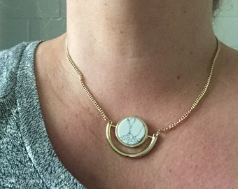 Chic necklace Emily Henderson recommended marble like