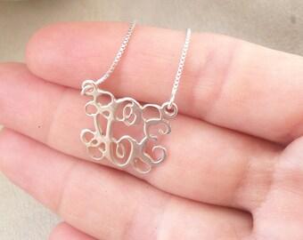 Tiny Monogram Necklace - Tiny Name Necklace - Tiny Initial Necklace - Children custom Necklace -  Tiny Necklace - girl Gift - Tiny Monogram