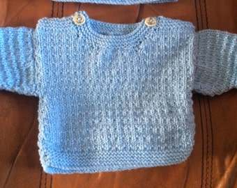 Handmade knitted baby jumper/sweater  **choose your colour & size**