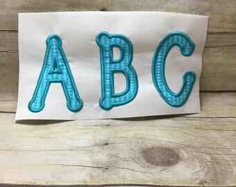 Dots Embroidery Font Applique, Applique Letter, Embroidery font Applique Letters