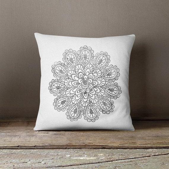 Throw Pillow Boho Mandala Accent Pillow Fancy Sofa Cushion