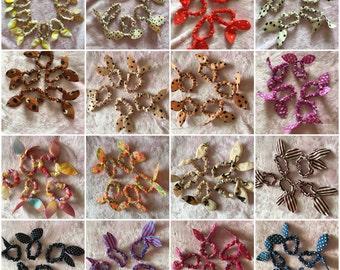 Handmade reversible bunny ears scrunchies
