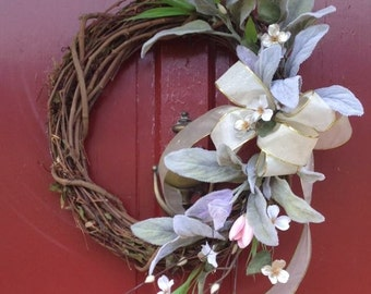 Wreath Pink Tulips, Dogwood Blossoms