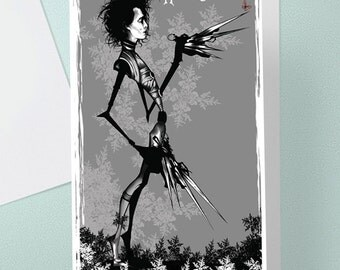 Edward Scissorhands Birthday Card