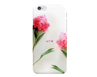 Peony Monogrammed iPhone Case [Personalized iPhone 6 case]