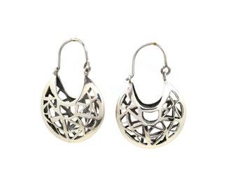 Patteron Basket Earrings, Sources, Indimaj Jewelry, Sterling Silver Earrings, Jewelry with Story, Basket Earrings,Special Earrings