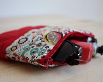 Zip pouch, pencil case, makeup case, quilted case