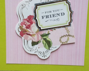 3D  Handmade For You Friend Greeting Card