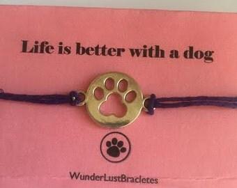 Dog Print Bracelet