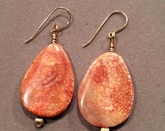 Agate Gold Earrings