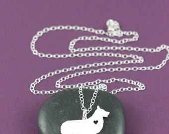 Welsh Corgi Dog Pendant Necklace