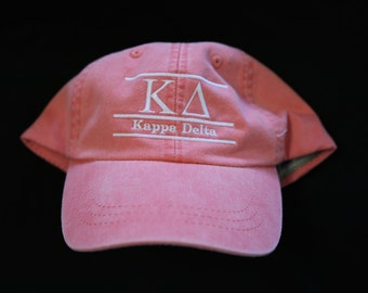 Custom Bar Design Hat with Greek Sorority