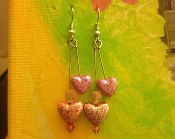 Delicate Heart earrings