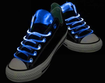 Blue LED Rave Shoelaces for DJ, Edc, Ultra, Music Festival, Concerts, Clubs, EDM
