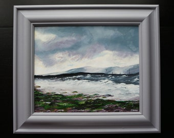 12x10 Acrylic Sea Landscape 'View from Nairn, Scotland'