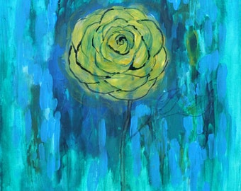 Original Painting Rose Abstract
