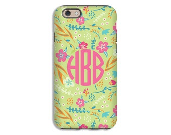 Monogram iPhone 7 case, floral iPhone 7 Plus case iPhone 6s case, iPhone 6s plus cases, iPhone 6 Plus case/6 case, 3D iPhone case