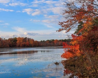 Fall Photo, Fall Photography, Lake photo, Home Decor or Perfect for a Gift