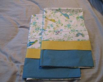 Pair of handmade pillowcases for standard pillows