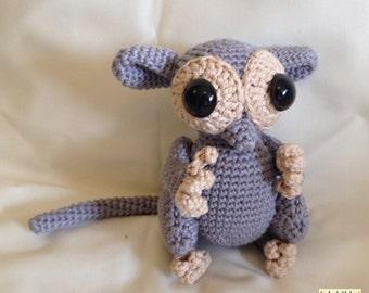 Crocheted tarsier
