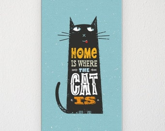 Gift for cat lover - canvas art - pet lovers - unique gift - home interiors - picture gift - pet lover present - cat canvas - pet lover gift
