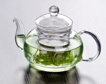 High temperature resistant glass tea cup glass teapot by hand 600mL