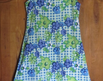 Vintage 90s Pop Art Flower Power A Line Mini Dress