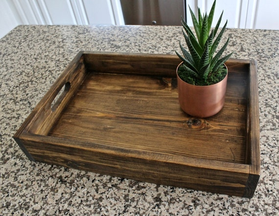 Simple wood serving tray rustic centerpiece gardening