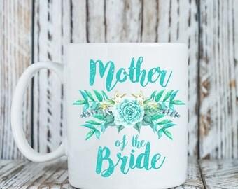 Mother of the Bride Mug, Beach wedding coffee mug, Mother of the Bride Gift, Gift for Mother of the Bride, Wedding family gift (M394)