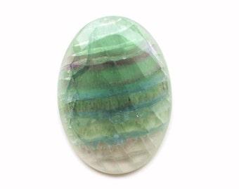 47 x 34 x 7 mm  Fluorite natural stone cabochon