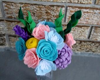 Dozen Felt Flower Bouquet