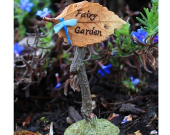 Miniature Dollhouse FAIRY GARDEN ~ Woodland Fairy Sign ~ NEW