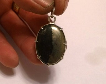 Handmade one of a kind sterling silver pendant
