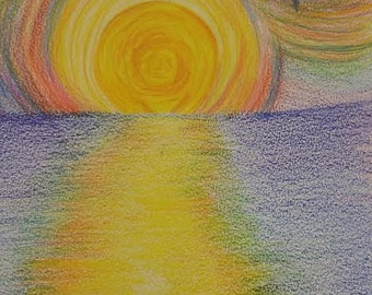 Colorful Beach Sunset